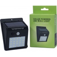 Solar Power LED Wall Light with Sensor